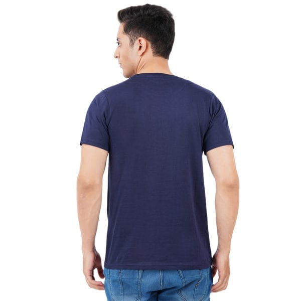 Printed Round or Crew neck CEO Navy T Shirt Back