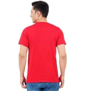 Typography Round neck Stay Young Red Mens T Shirt Back
