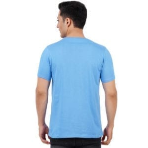 Typography Round neck Work From Home Blue T Shirt Back