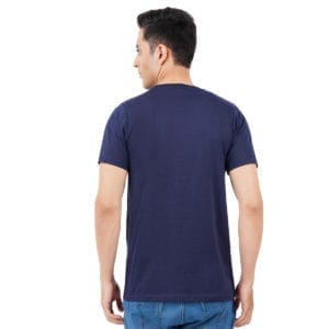 Printed Mens Round or Crew neck CIA Navy T Shirt Back