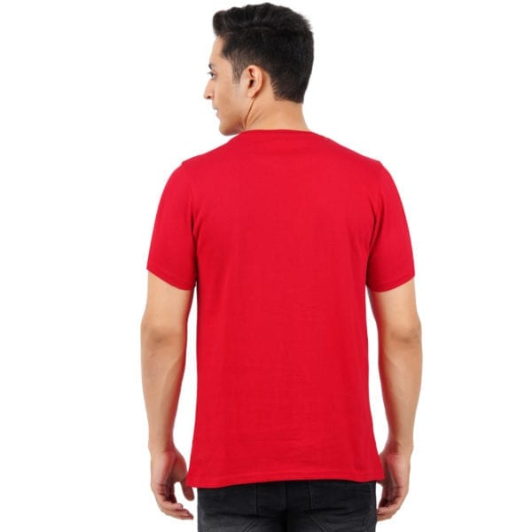 Graphic Printed Mens Round neck Chill Red T Shirt Back