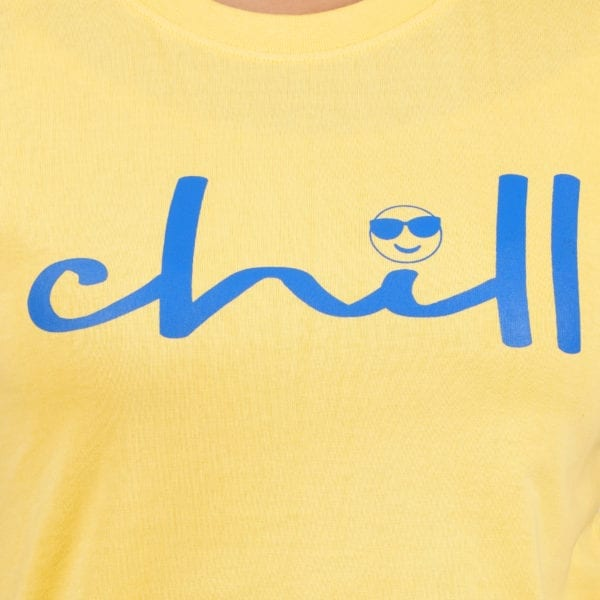 Printed Round or Crew neck Chill Yellow Womens T Shirt Print