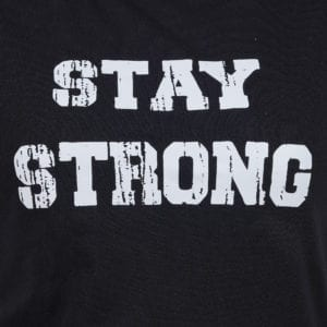 Printed Round or Crew neck Stay Strong Black Womens T Shirt Print