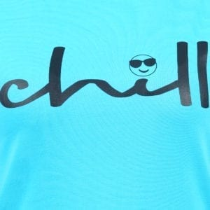 Graphic Printed Round neck Chill Blue Womens T Shirt Print